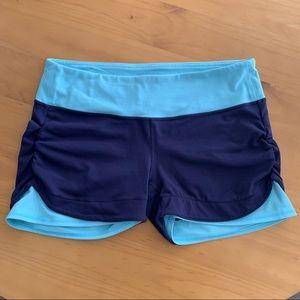 Athleta blue Vata Yoga shorts